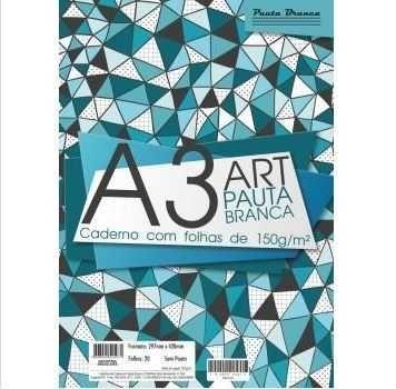 Bloco Desenho A3 - Art Pauta Branca - 150g/m²