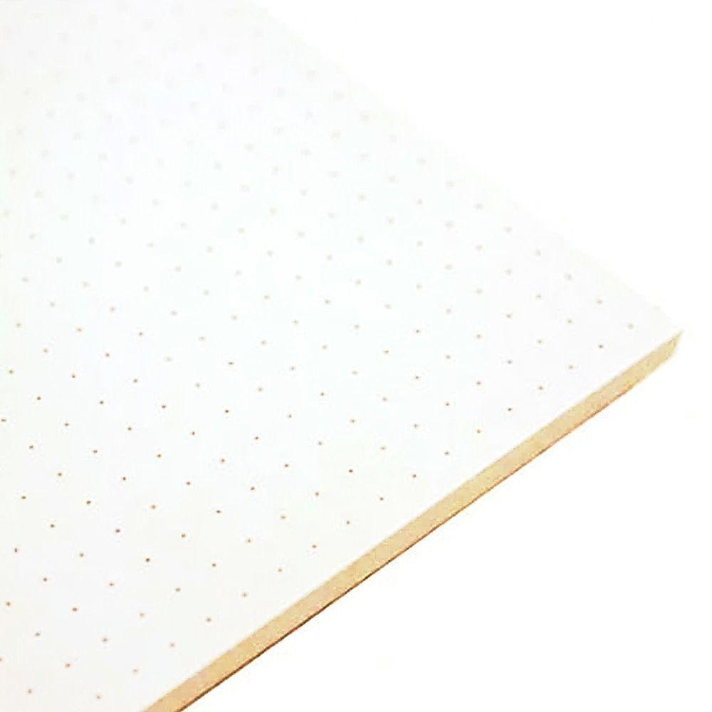 Caderno Sketchbook Pontilhado A5 70gr 80Fls Capa em PU Verde Pastel - Bee Unique