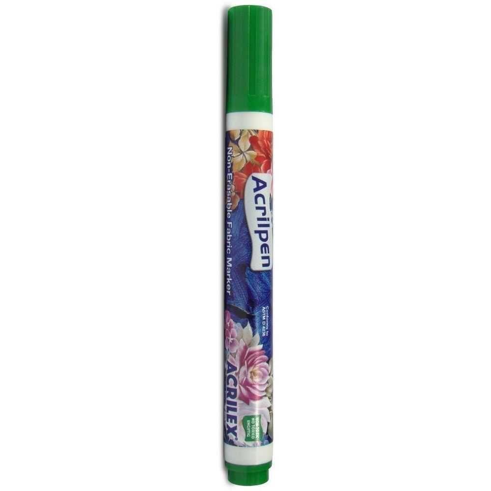 Caneta Para Tecido Verde Musgo - Acrilpen