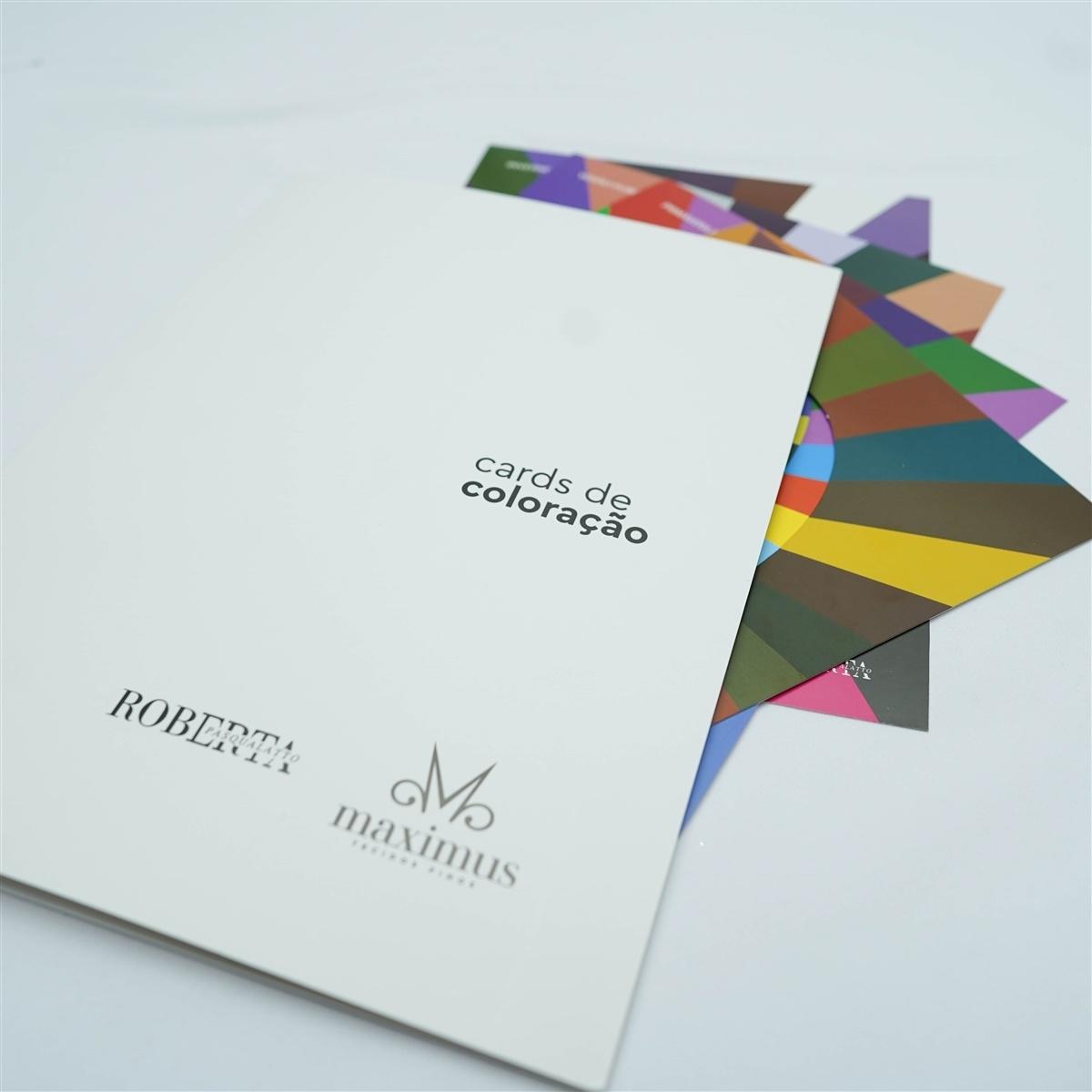 Cards de coloração (Cartela cores) p/ profissionais da moda