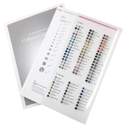 Cartela de Strass Base Reta Preciosa para facilitar na escolha das cores!