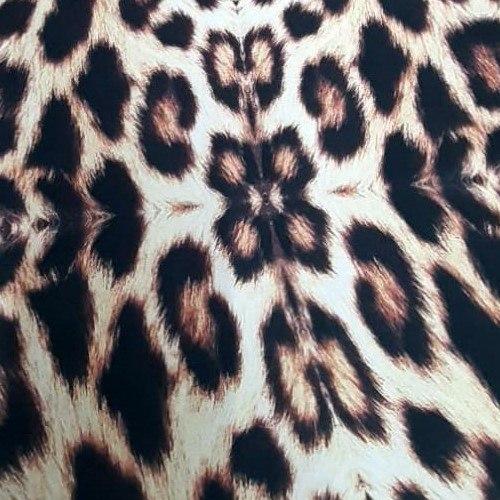 Tecido Cetim Bianchini Estampado Animal Print