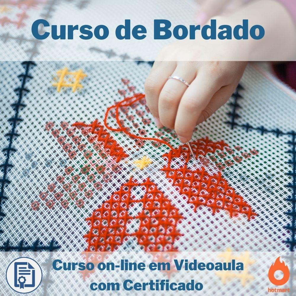 Curso on-line em videoaula de Bordado com Certificado