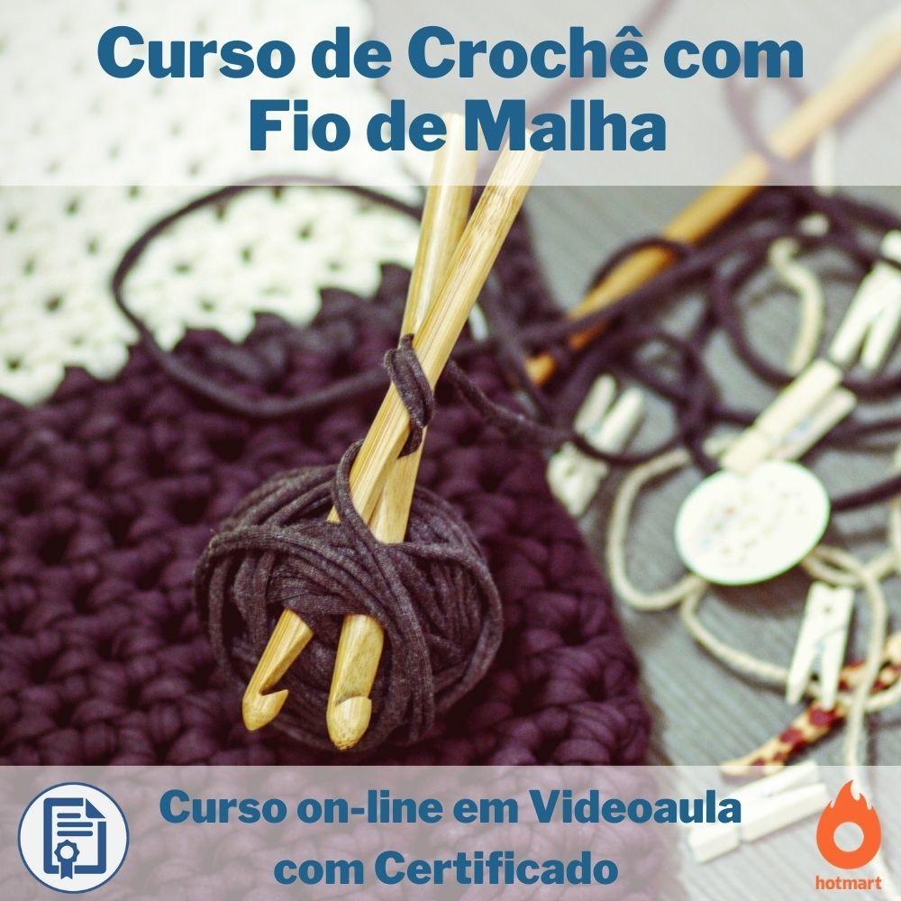 Curso on-line em videoaula de Crochê com Fio de Malha com Certificado