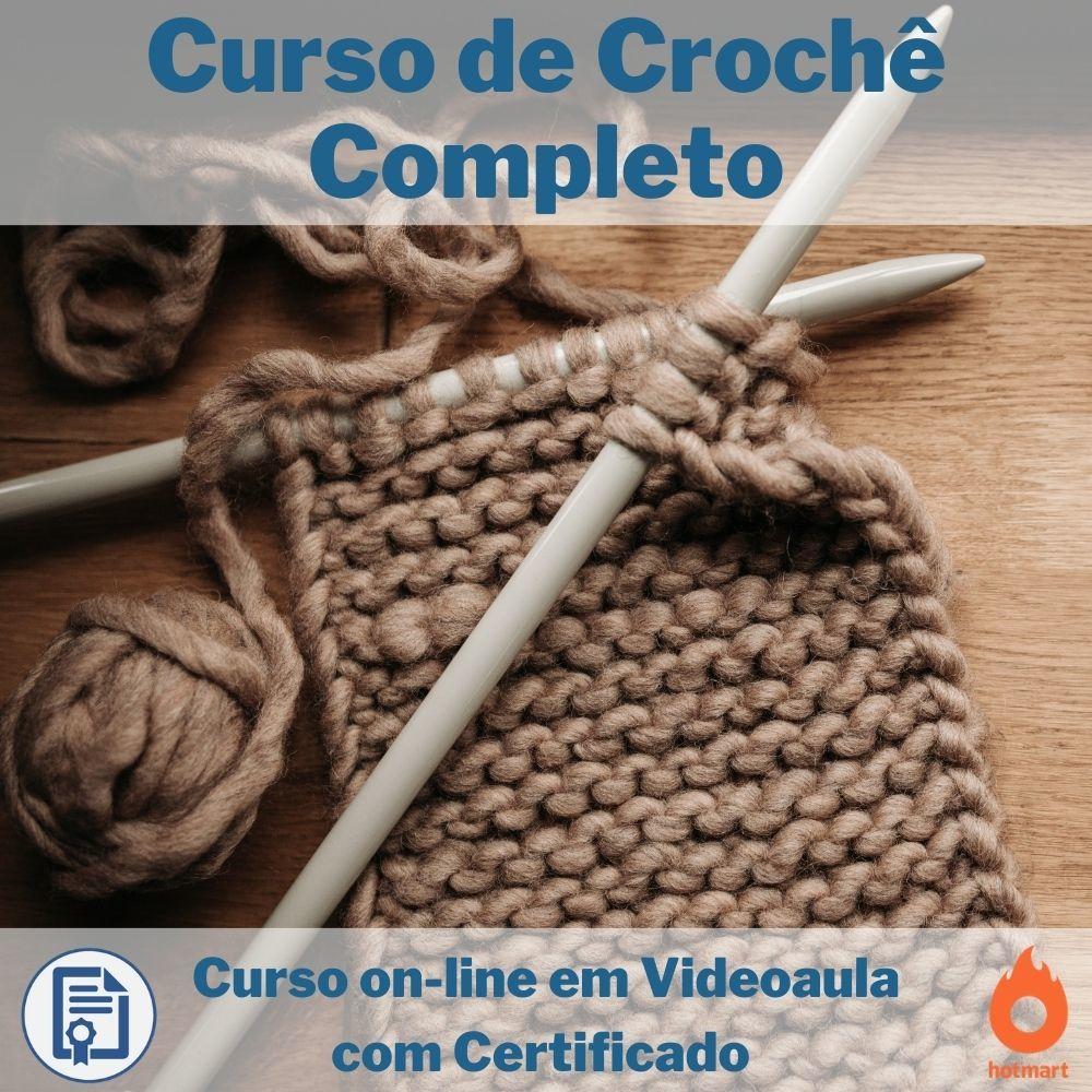Curso on-line em videoaula de Crochê Completo com Certificado