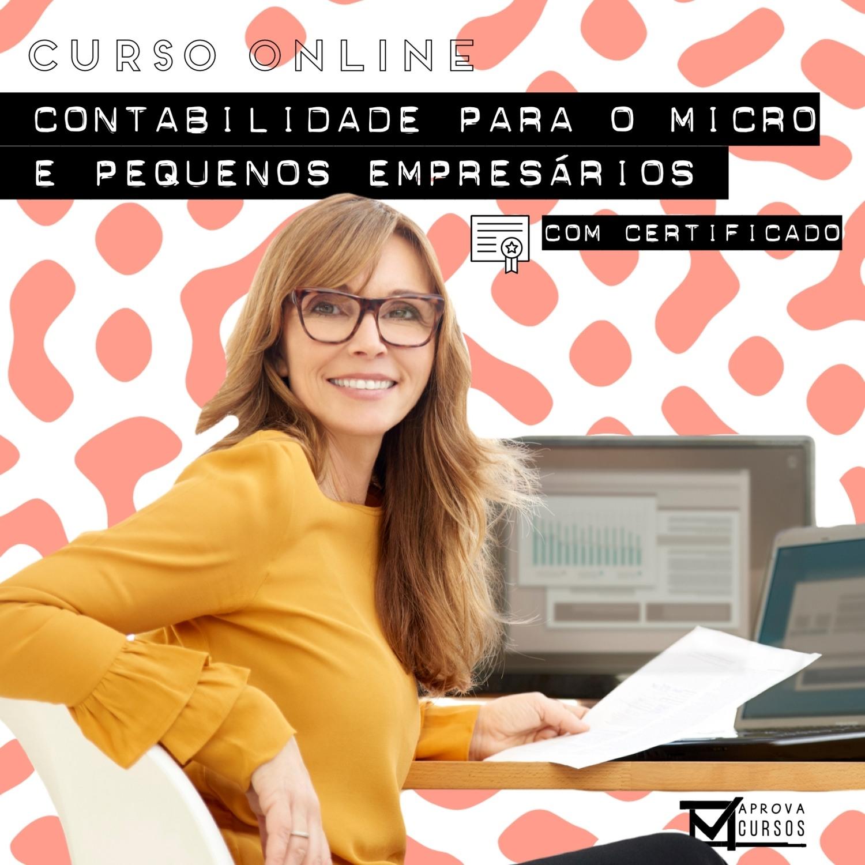 Curso Online em videoaula de Contabilidade para Micro e Pequenos Empresários com Certificado