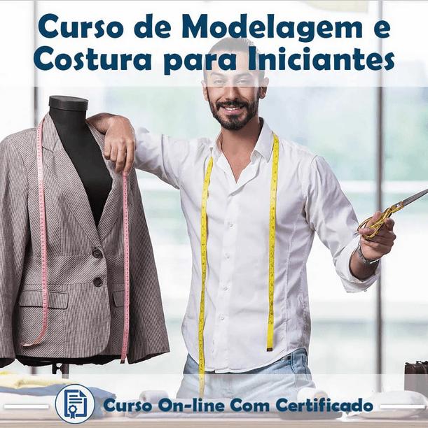 Curso online em Videoaula de Modelagem e Costura para iniciantes com Certificado