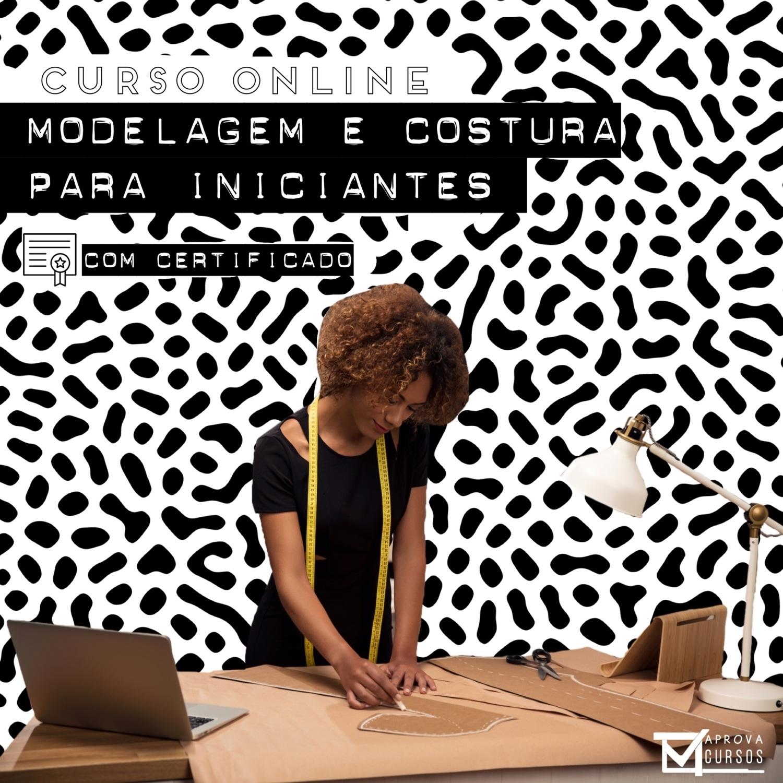 Curso online Videoaula de Modelagem e Costura para iniciantes com Certificado