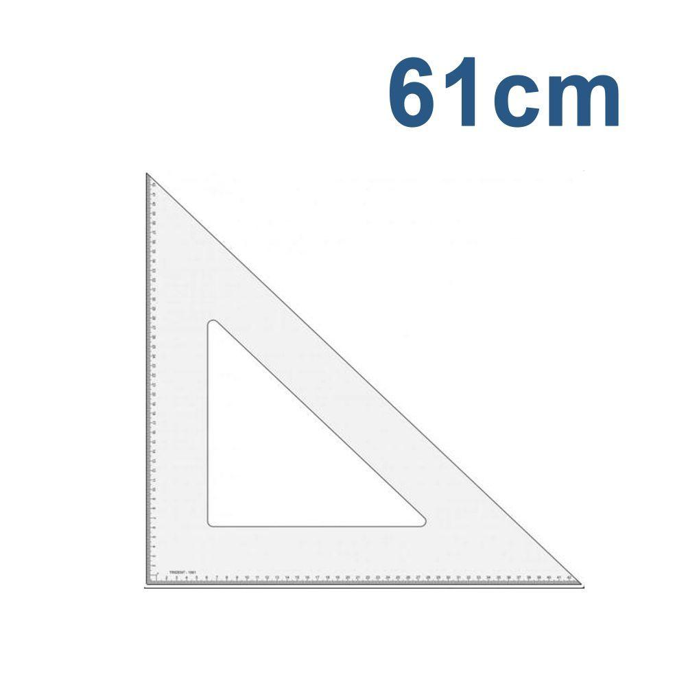 Esquadro Modelagem Trident / Desetec 61 cm 45°|45°|90° com escala - 1561