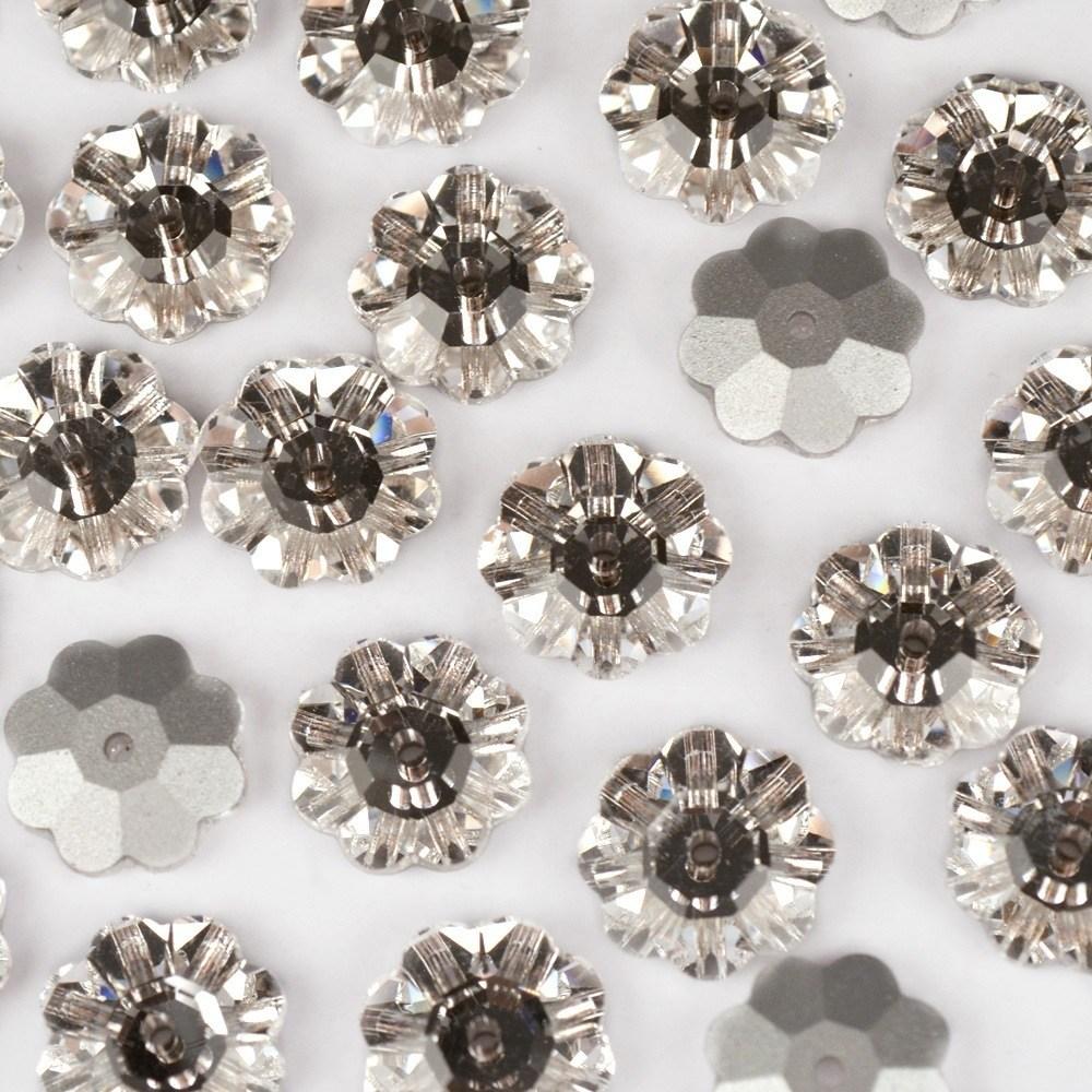 Flor para costura Preciosa® art. 438 52 Cristal 12mm 24 peças