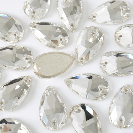 Gota para costura Supreme Cristal 22x13mm 24 peças