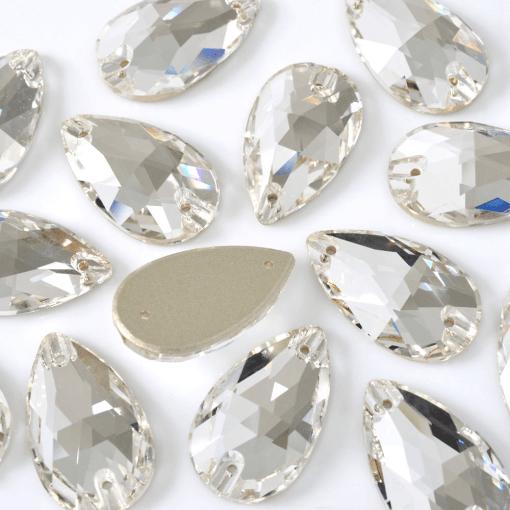Gota para costura Supreme Cristal 28x17mm 12 peças