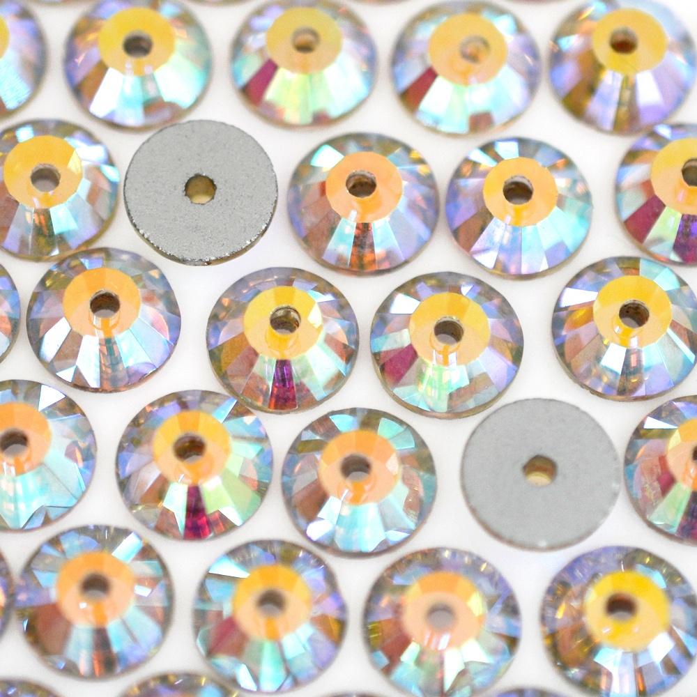 Lantejoula para costura Supreme Cristal Aurora Boreal 8mm 36 peças