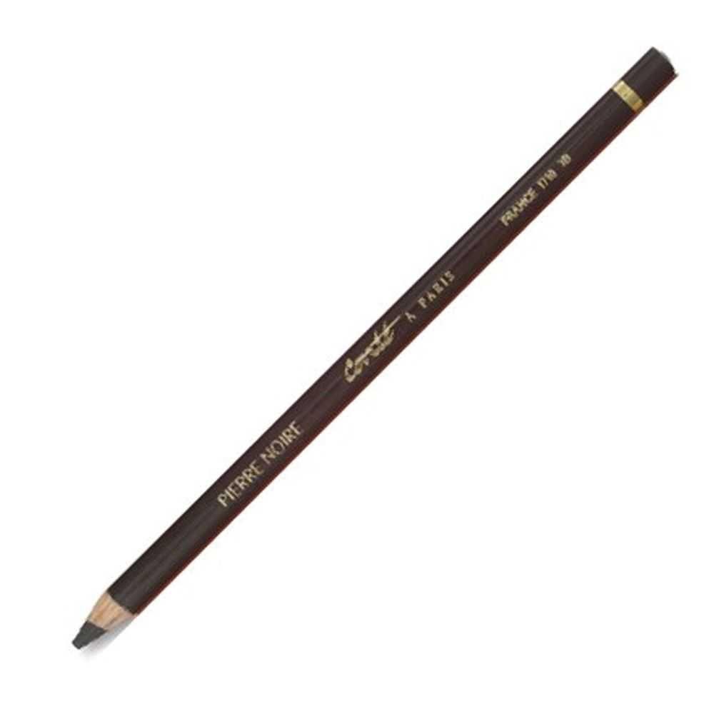 Lápis para Esboço Conté à Paris - Pierre Noire 2B (conhecido como pedra preta)