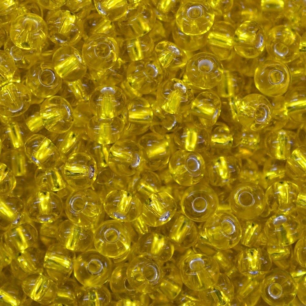 Miçanga Preciosa® Ornela Amarelo Transparente (87010) 6/0=4,1mm 100 gr