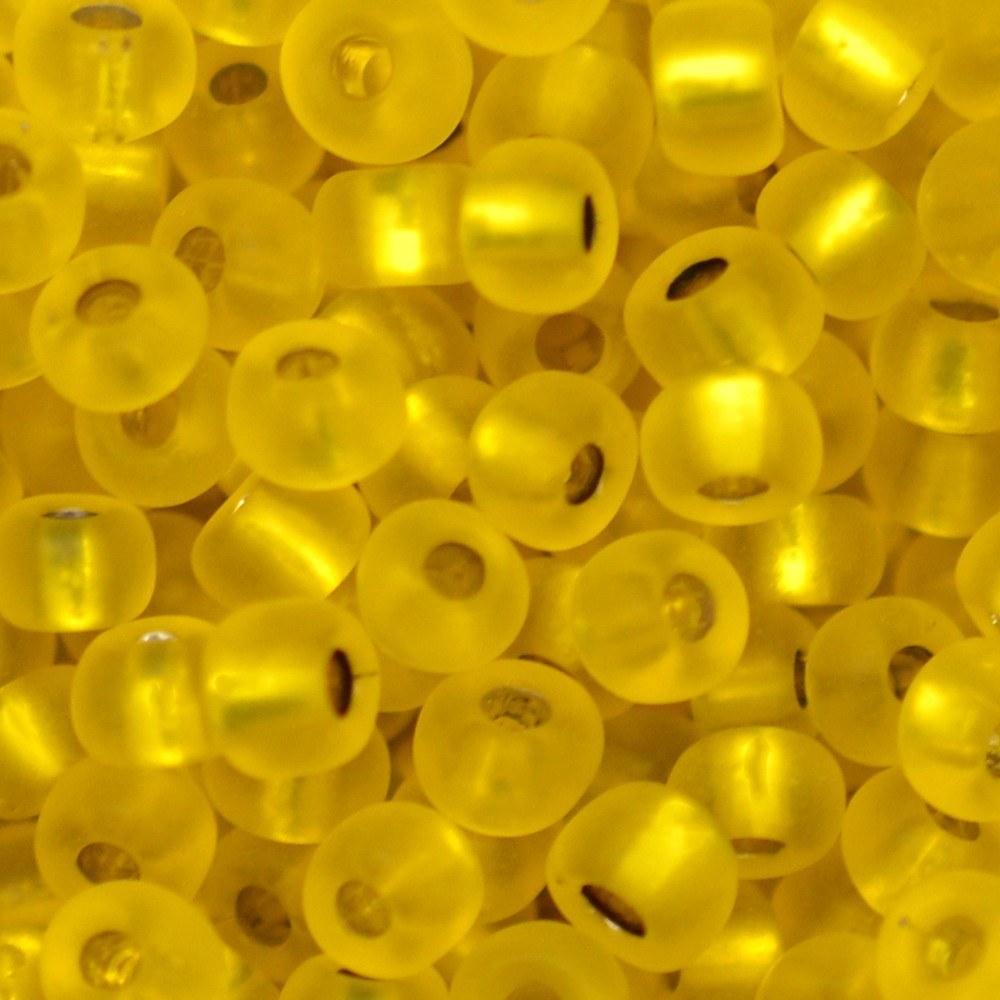Miçanga Preciosa® Ornela Amarelo Transparente Mate (87010) 6/0=4,1mm 100 gr