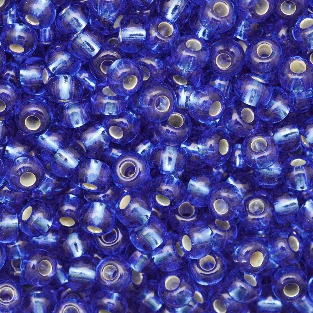 Miçanga Preciosa® Ornela Azul Transparente (37050) 6/0=4,1mm 100 gr