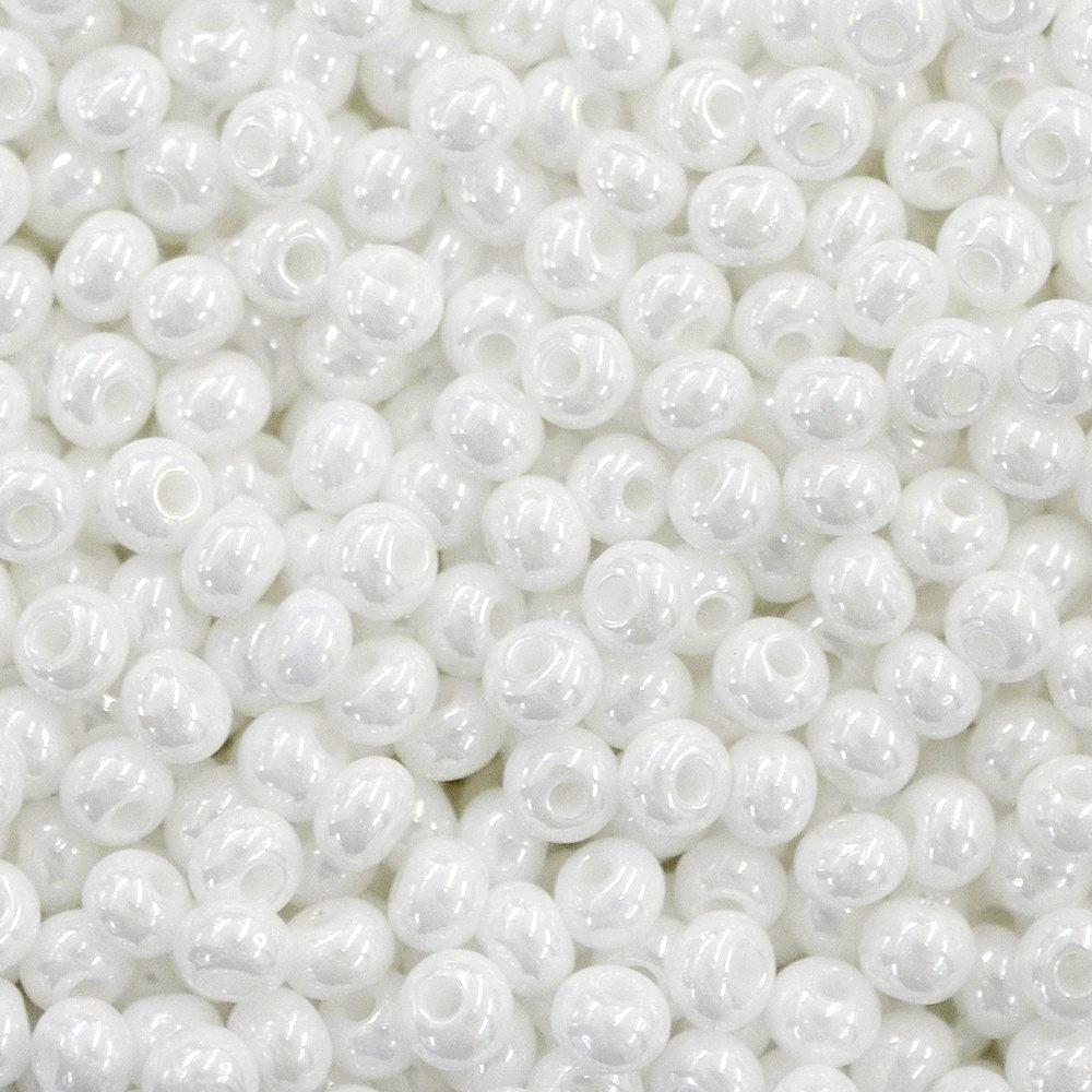 Miçanga Preciosa® Ornela Branco Perolado (46102) 9/0=2,6mm 100 gr