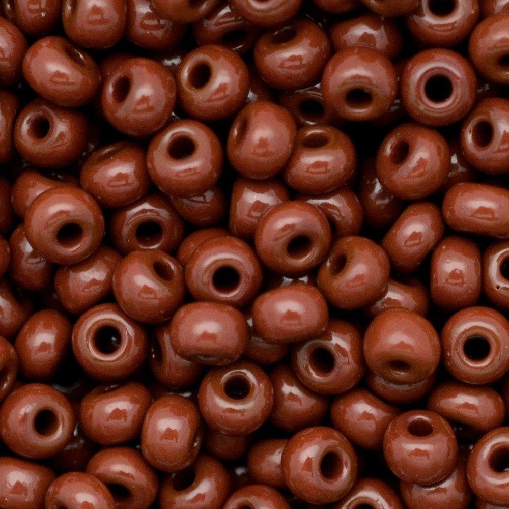 Miçanga Preciosa® Ornela Marrom Fosco (13600) 12/0=1,9mm 100 gr
