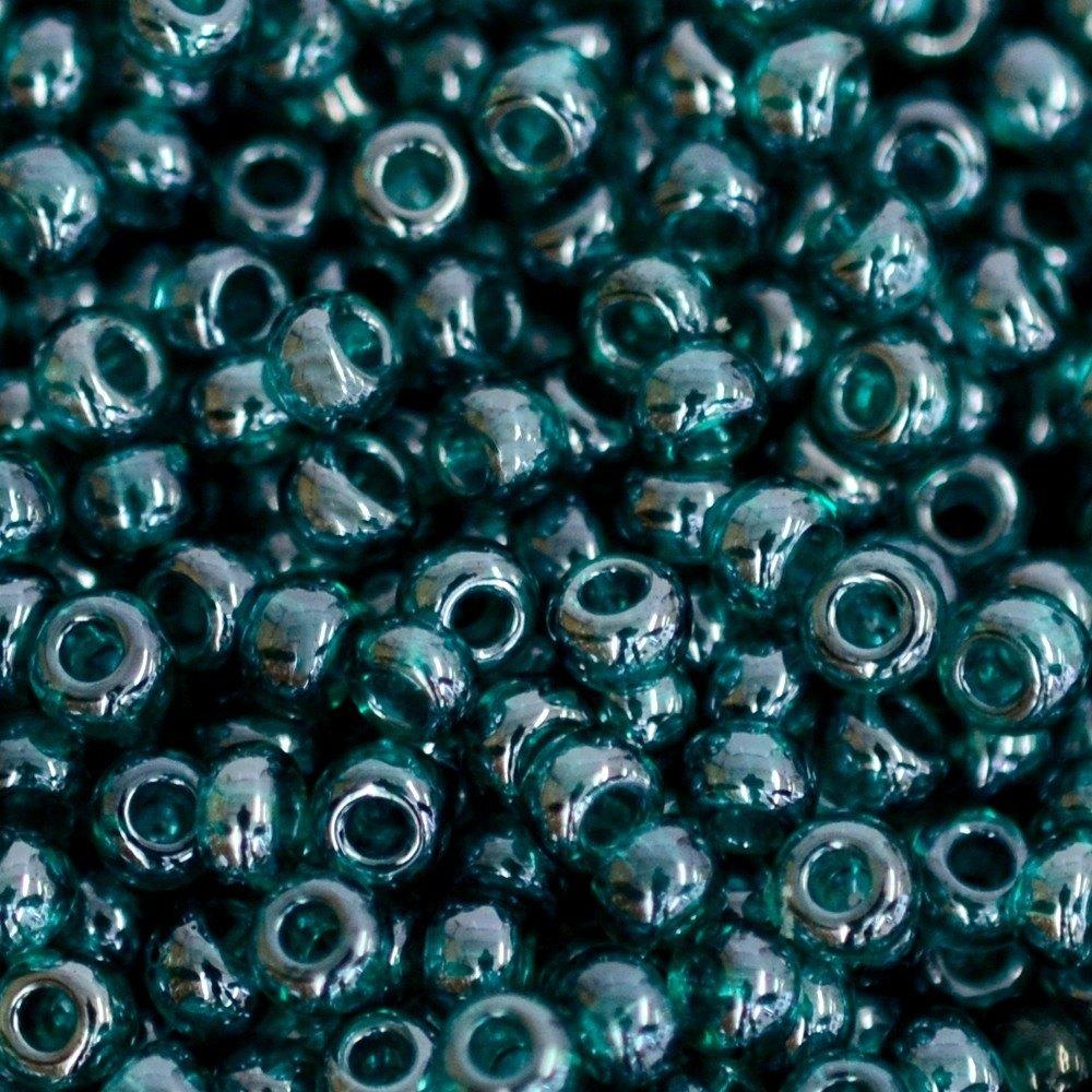 Miçanga Preciosa® Ornela Verde Transparente T Lustroso (56710) 9/0=2,6mm 100 gr