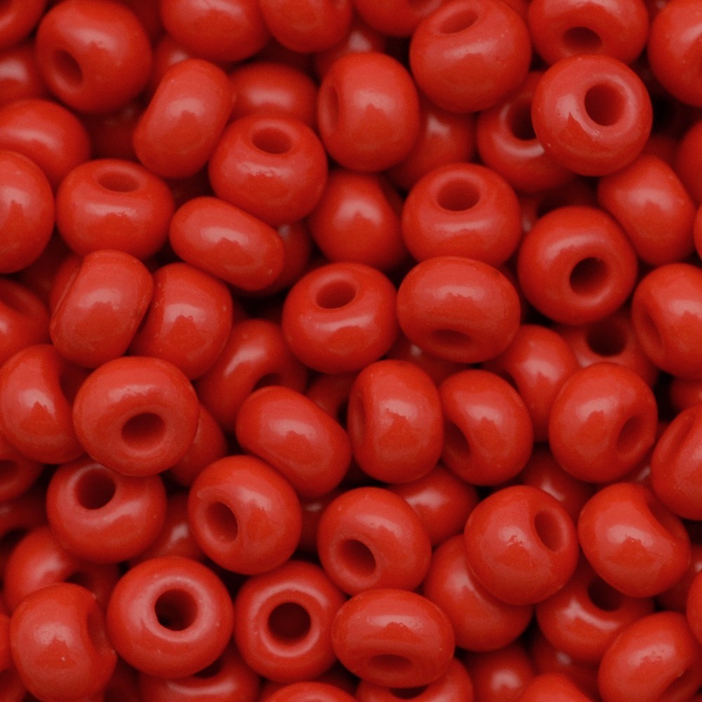 Miçanga Preciosa® Ornela Vermelho Fosco (93170) 9/0=2,6mm 100 gr