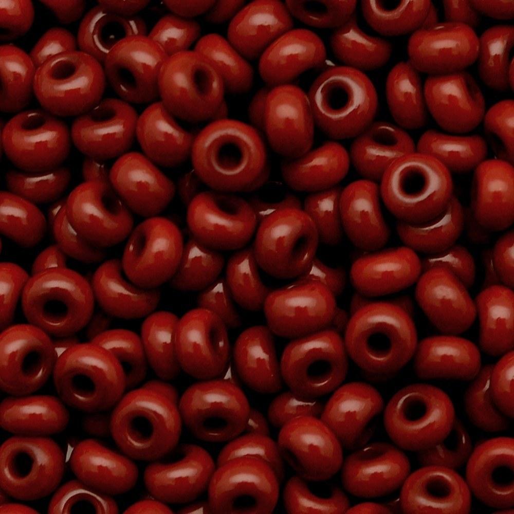 Miçanga Preciosa® Ornela Vermelho Terra Fosco (93300) 15/0=1,5mm 100 gr