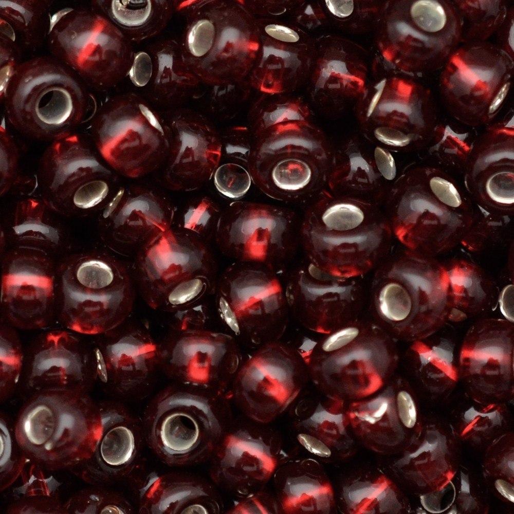 Miçanga Preciosa® Ornela Vermelho Transparente (97090) 9/0=2,6mm 100 gr