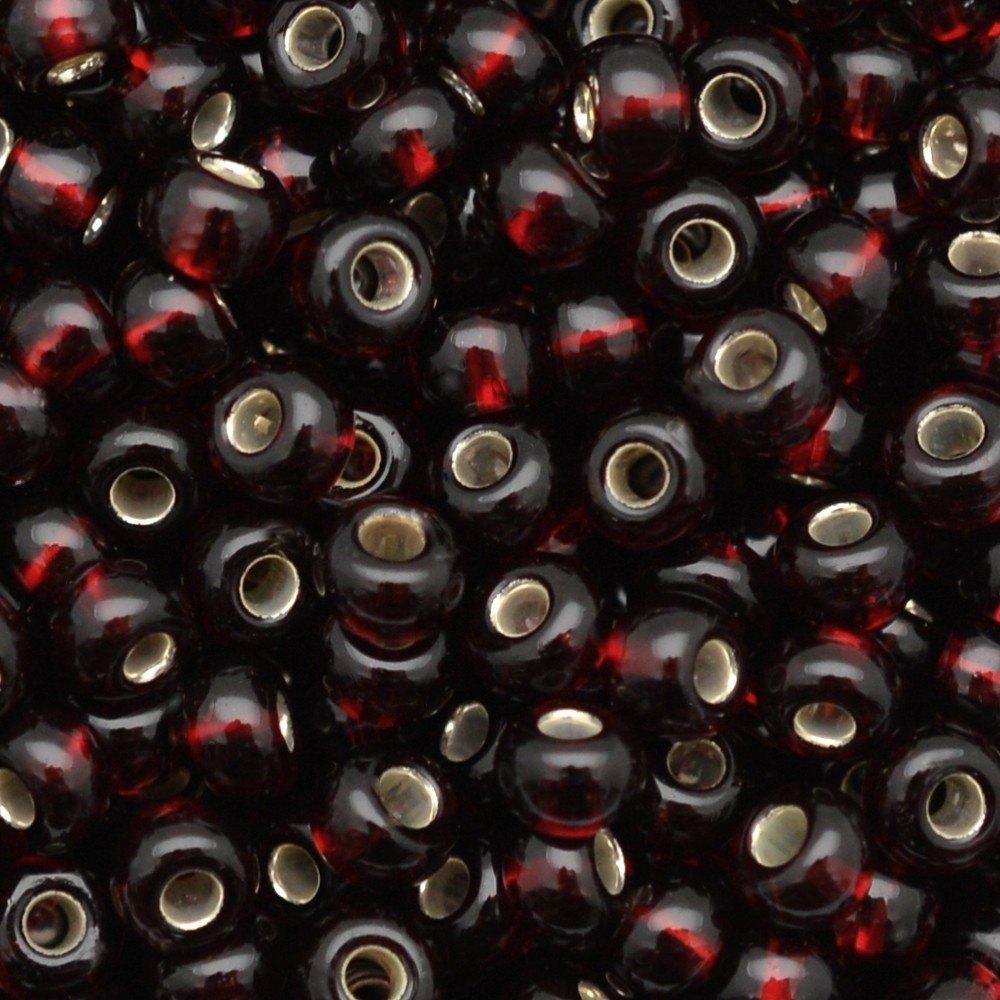 Miçanga Preciosa® Ornela Vermelho Transparente (97120) 9/0=2,6mm 100 gr