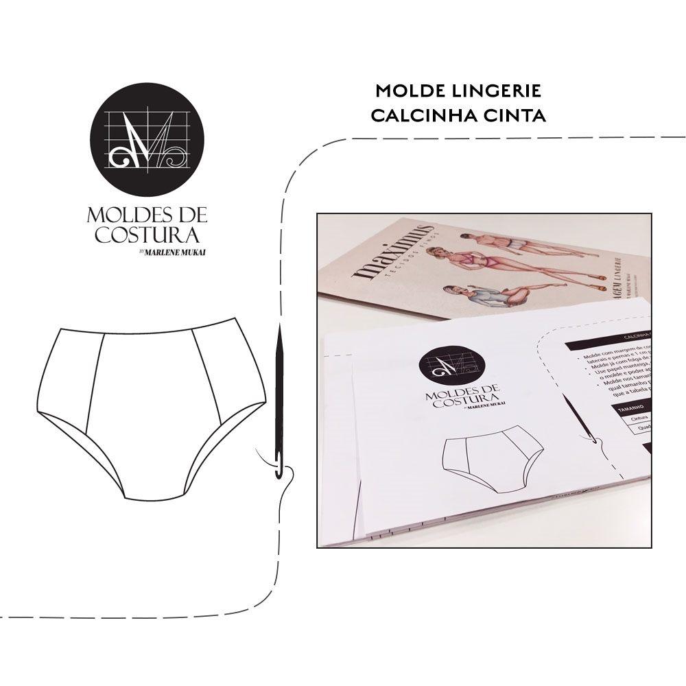 Molde lingerie calcinha cinta - by Marlene Mukai
