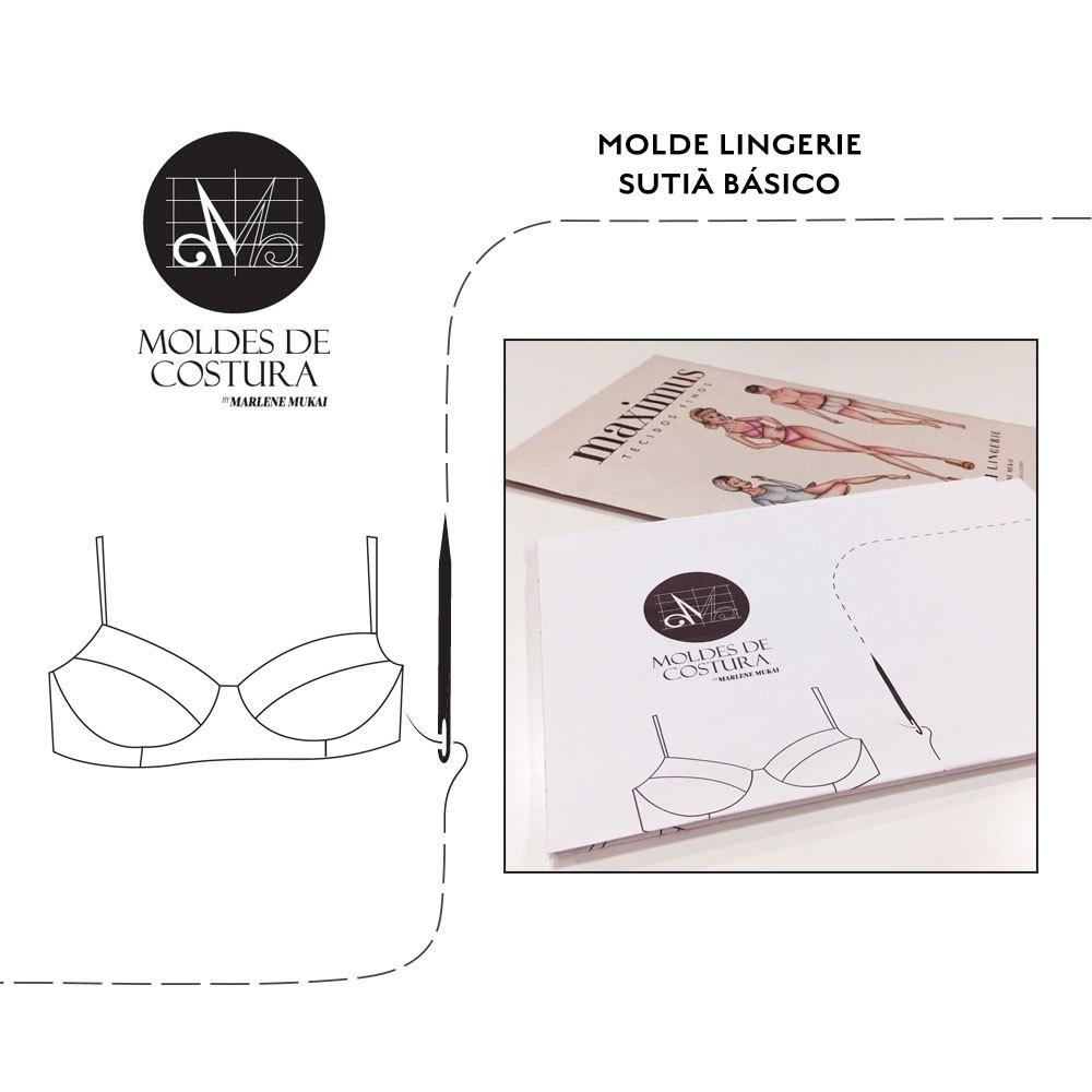 Molde lingerie sutiã básico - by Marlene Mukai