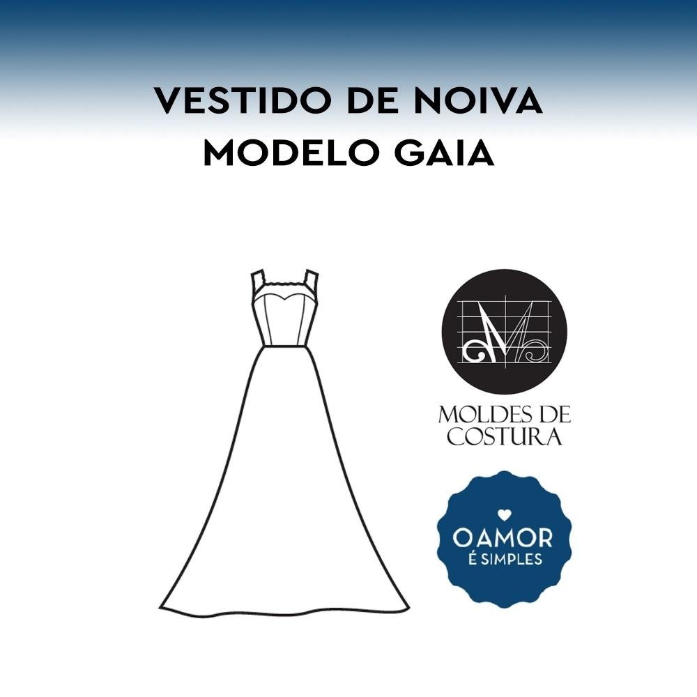 Molde Vestido de Noiva Gaia PP/GG – by O Amor é Simples