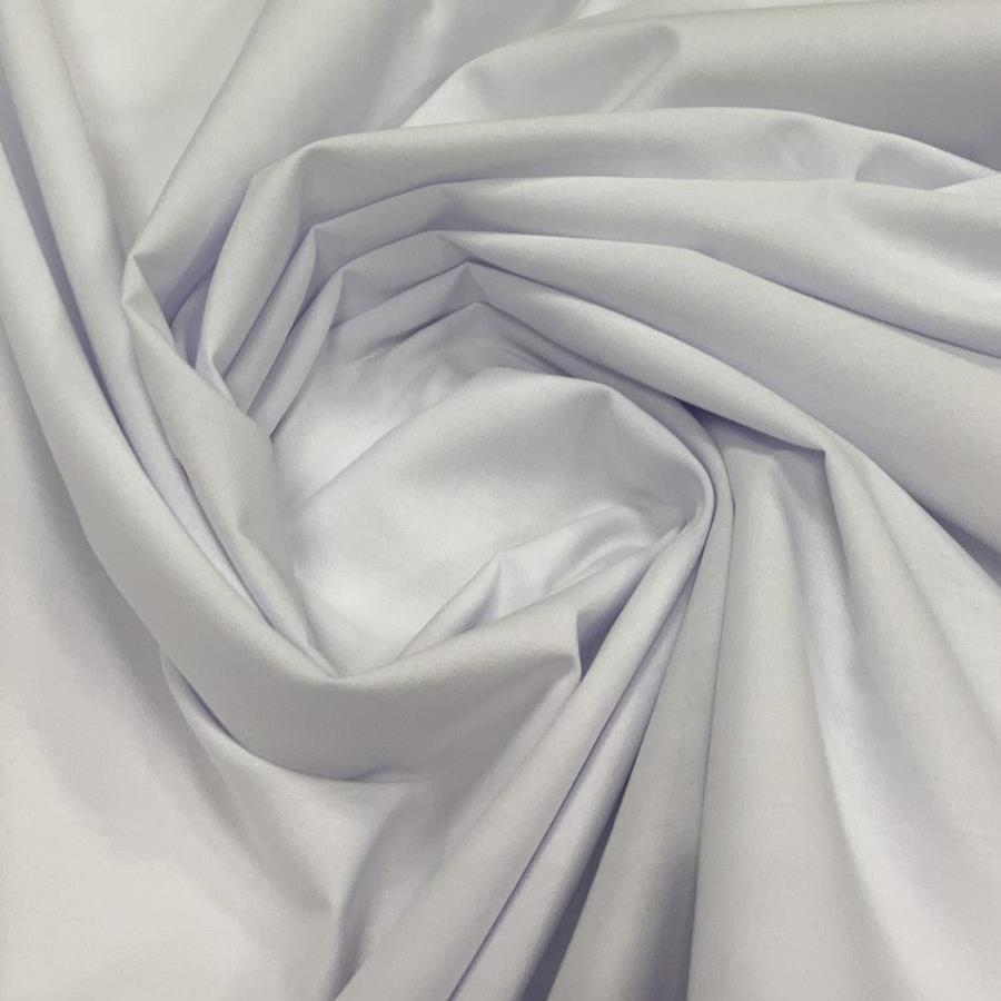 Tecido Percal 200 fios Branco 2,50 de Largura