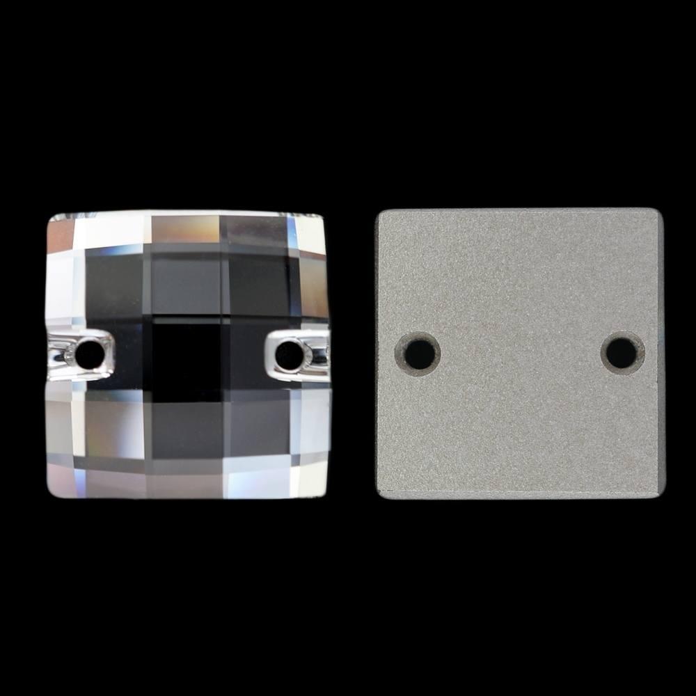Quadrado Chessboard para costura Swarovski® art. 3293 Cristal 24mm 2 peças