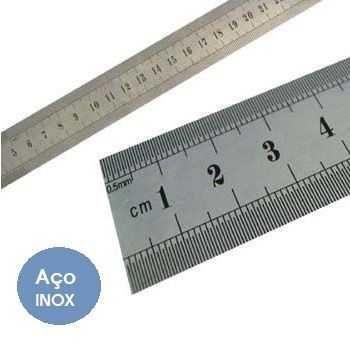 Régua de Aço Inox Western 100 cm