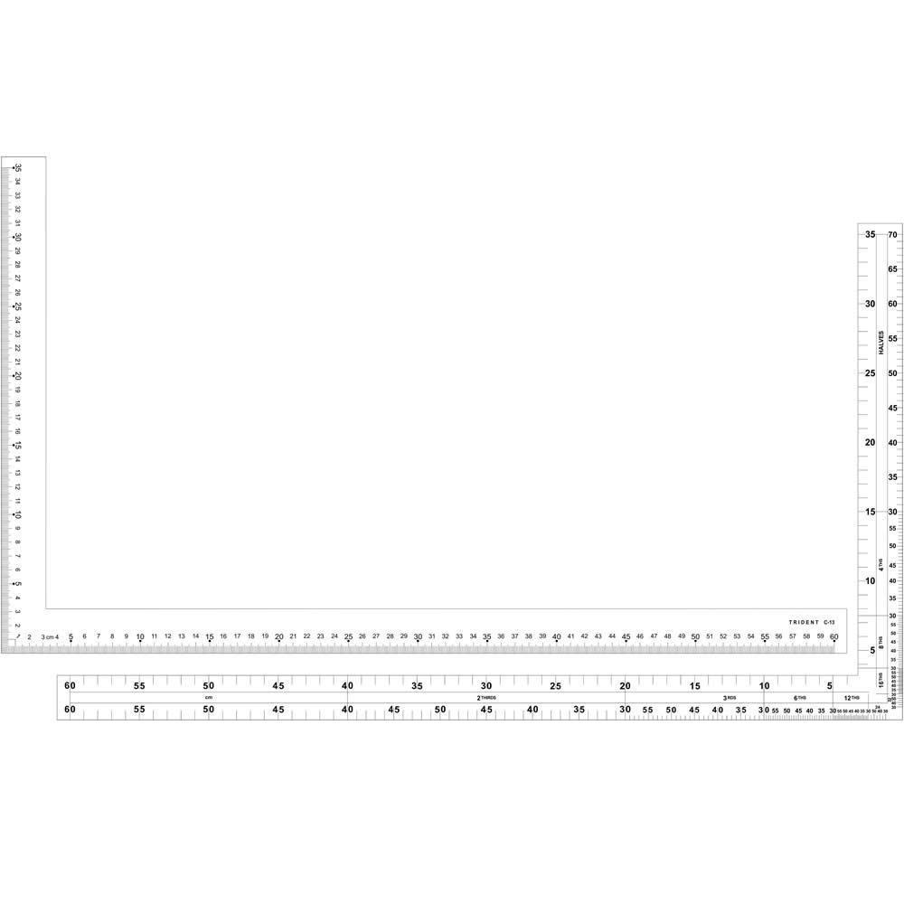 Régua para Corte e Costura MOD-C-13 PAI Trident/Desetec