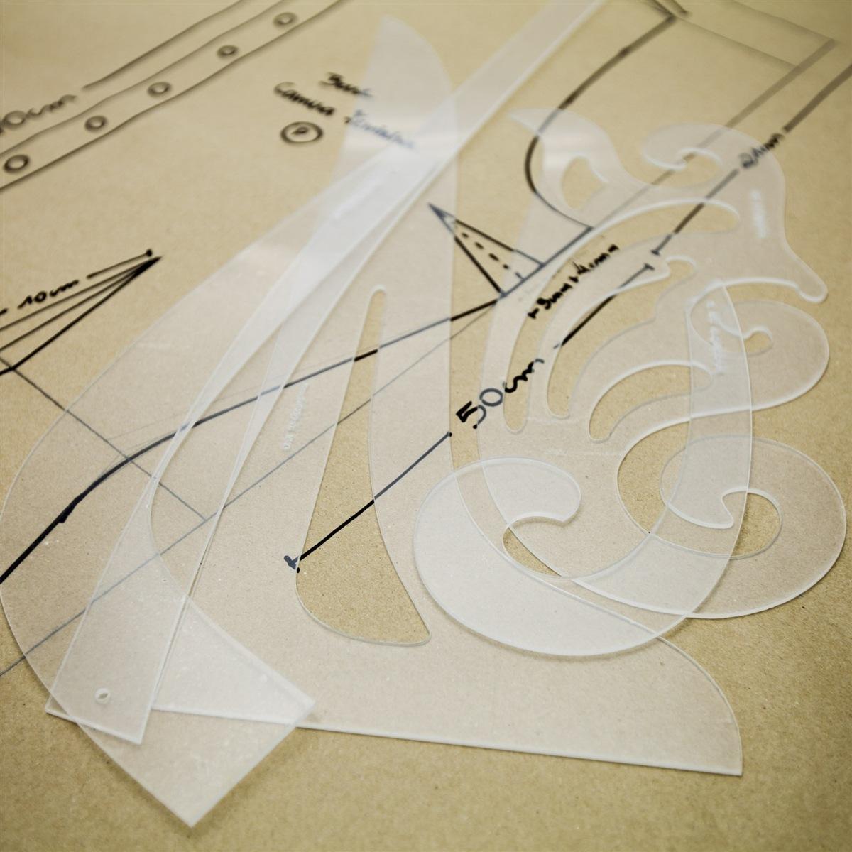 Réguas de modelagem - Kit 5 und. Acrílico transparente