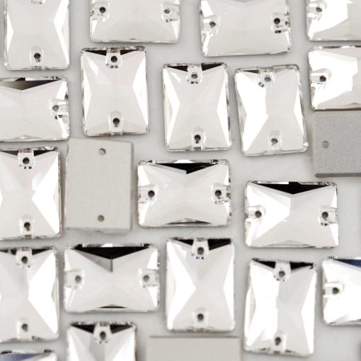 Retângulo para costura Supreme Cristal 18x13mm 24 peças