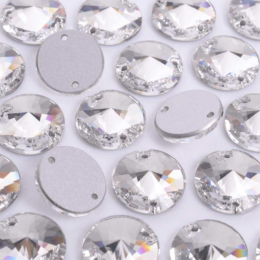 Rivolli para costura Preciosa® art. 438 61 302 Cristal 10mm 24 peças