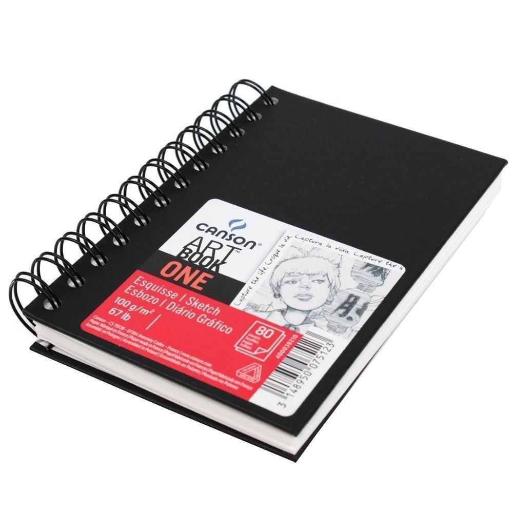 Sketchbook - Bloco Canson One - Com Espiral 100g/m² A3 (27,9cm x 35,6cm)