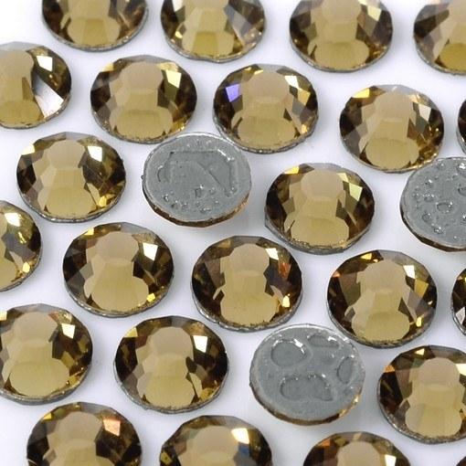 Strass Chaton Base Reta com cola Hot Fix Preciosa Viva 12 Gold Beryl SS20=4,6mm