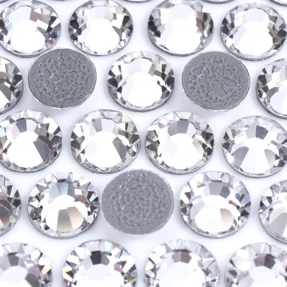 Strass Chaton Rose Viva 12® Cristais Preciosa® Termocolante Cristal com espelho SS30=6,30mm