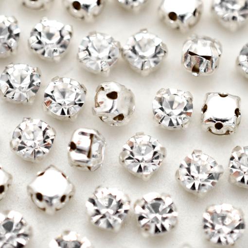 Strass Engrampado para costura Supreme Cristal Níquel SS16 = 3,80mm 144 peças