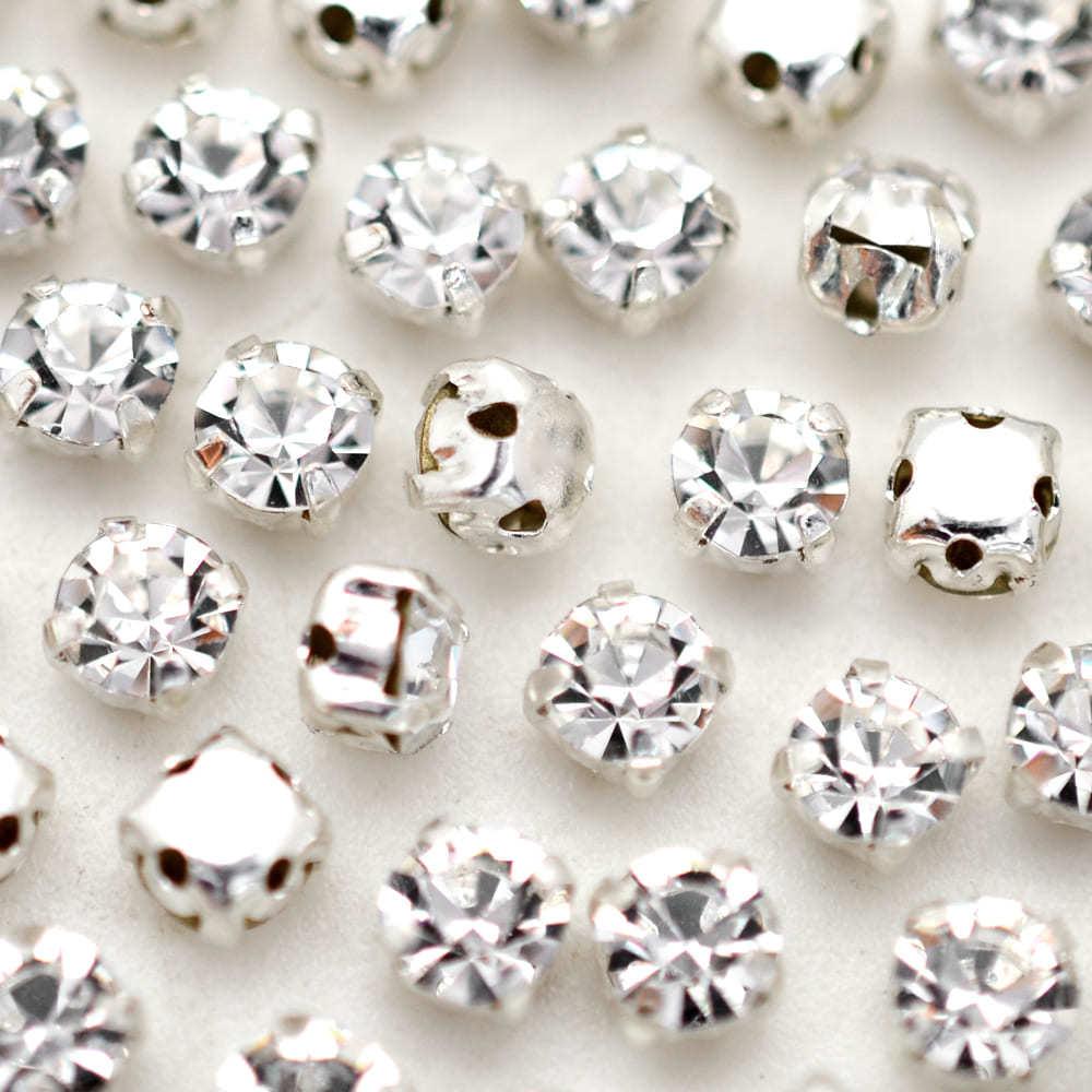 Strass Engrampado para costura Supreme Cristal Níquel SS20 = 4,60mm 72 peças
