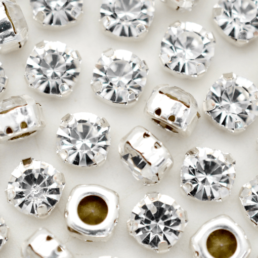 Strass Engrampado para costura Supreme Cristal Níquel SS38 = 8,00mm 12 peças