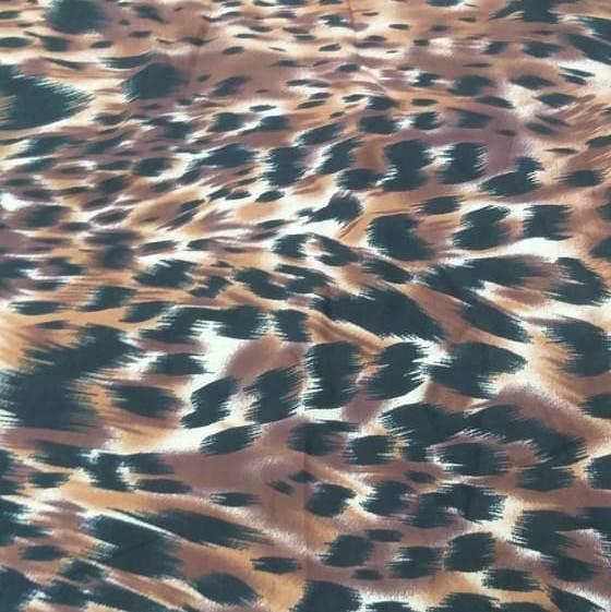 Tecido Cambraia de Algodão Animal Print
