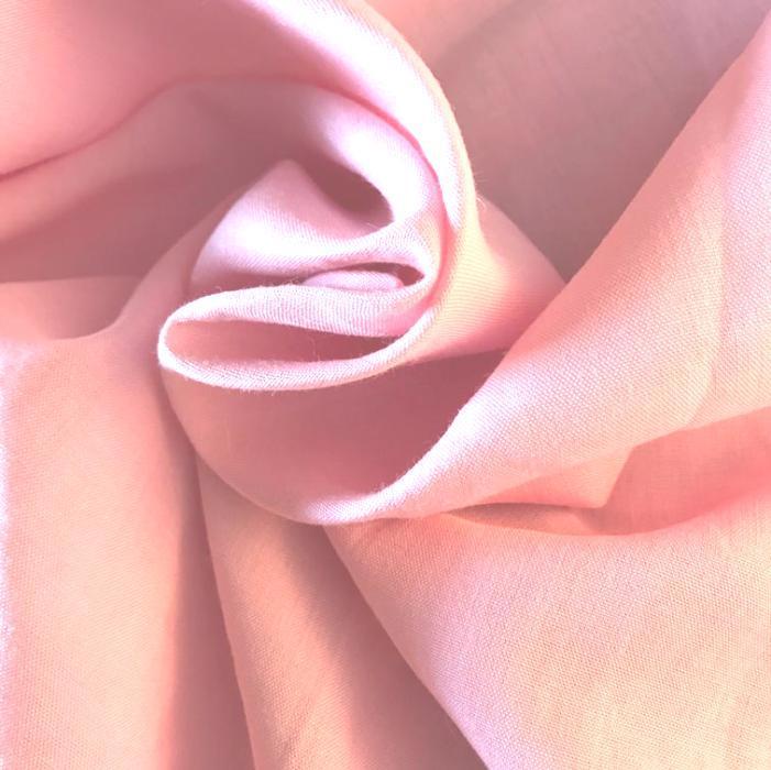 Tecido Cambraia de Linho Puro Rosa Claro