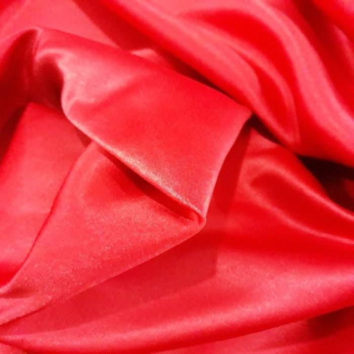 Tecido Cetim Bucol Vermelho