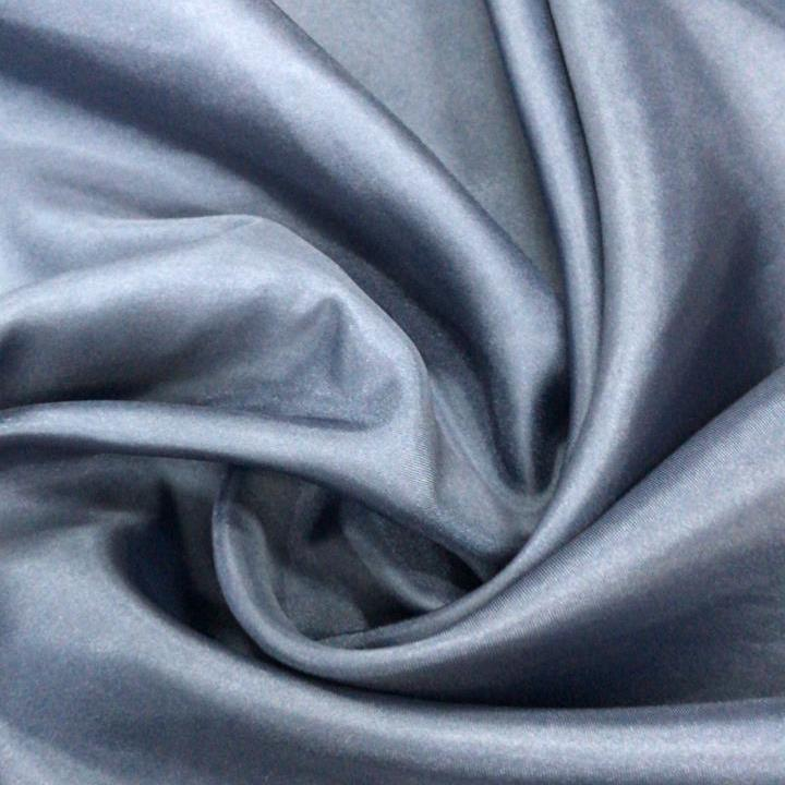 Tecido Cetim Charmousse Azul Aço Pantone 19-4117TCX