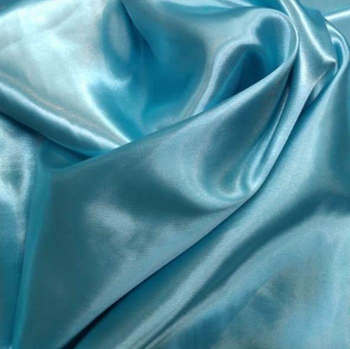 Tecido Cetim Charmousse Azul Céu