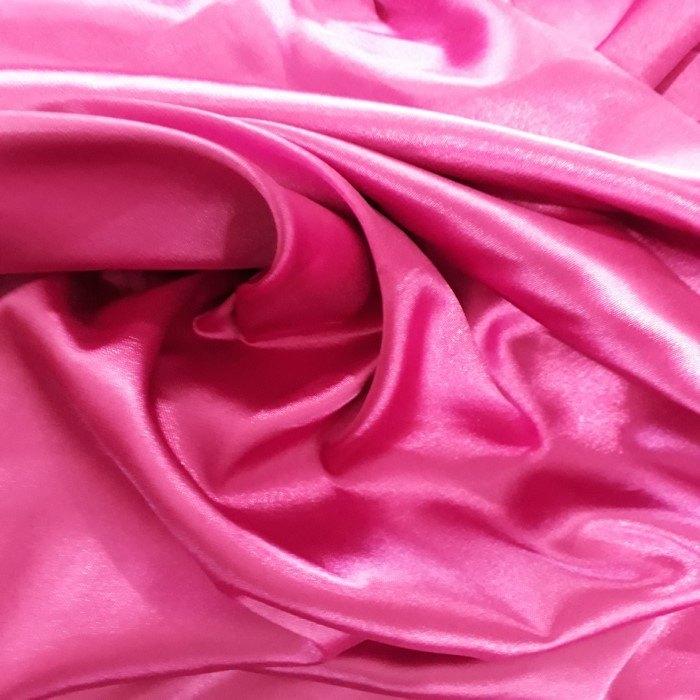 Tecido Cetim Com Elastano Pink